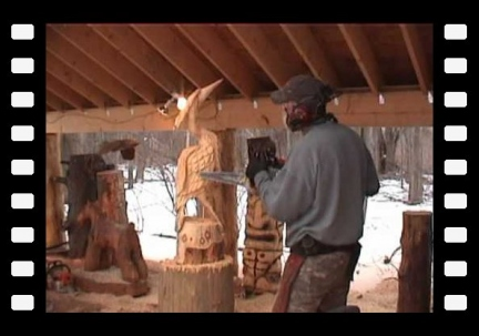Blue Heron Chainsaw Carving