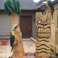 Tiki, Parrot, and Palm Tree