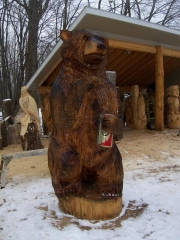 Brown Bear with a Beer
