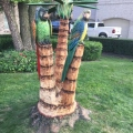 Two Parrots on a Palm Tree 2